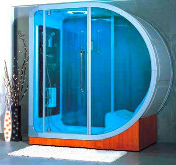 Дизайн голубой ванной: ледяные просторы в одном помещении