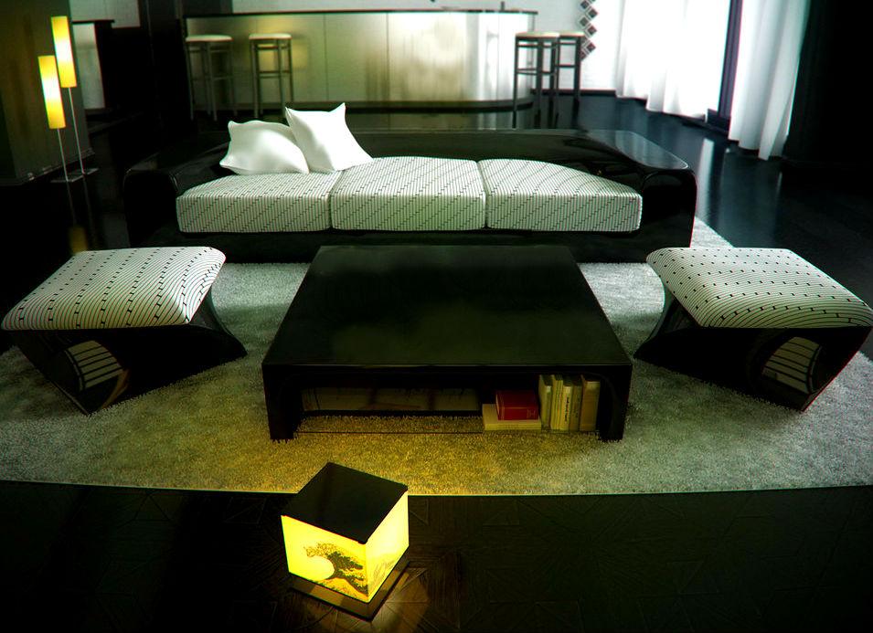 Гостиная в Японском стиле - минимализм со вкусом