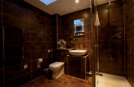 Коричневая ванная комната фото