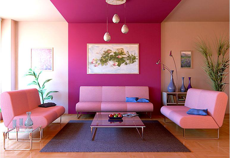 Интерьер розовой гостиной - так диктует мода!