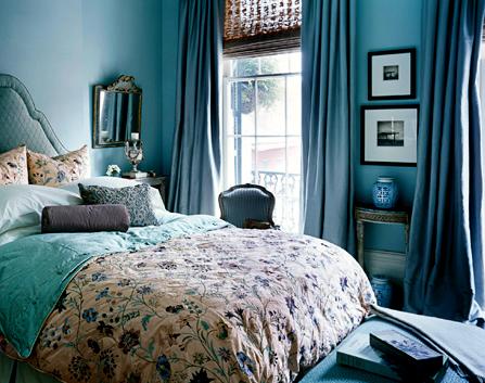 Голубая спальня - благородство цвета в интерьере