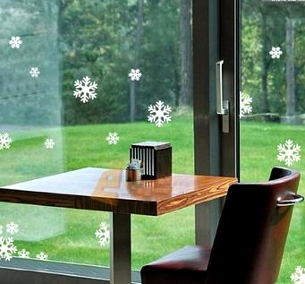 Снежинки на окнах