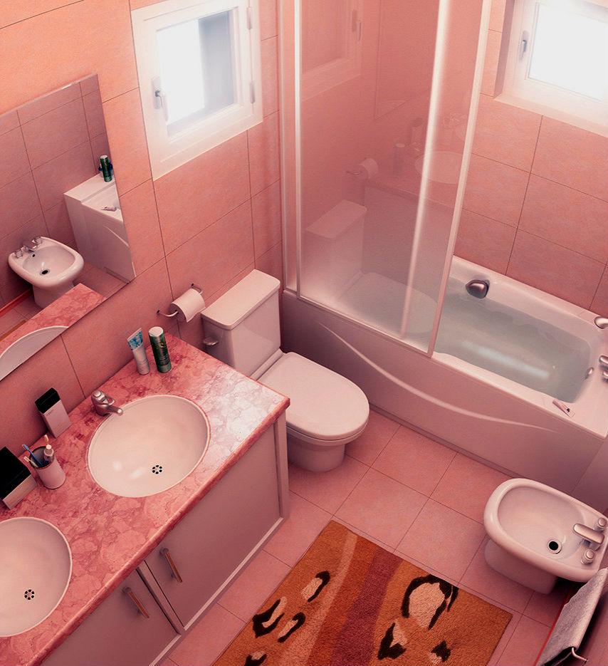 Ванная комната в деревянном доме (42 фото) 62