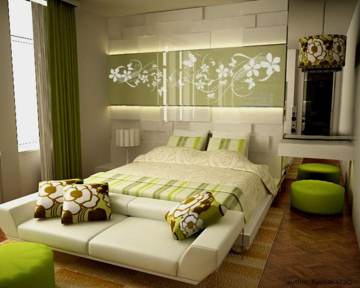 Зеленая спальня - создаем релаксирующий интерьер