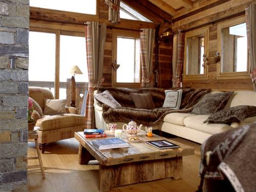 гостиная в стиле шале уютный стиль найден