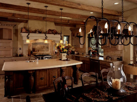 Rustic traditional french country home
