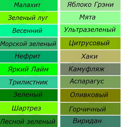 оттенки цветов картинки: