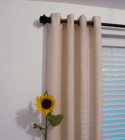 шторы из мешковины фото