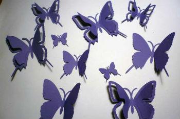 Сделать бабочки из бумаги на стену своими