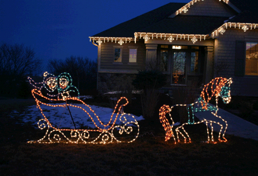 Victorian-horse-and-sleigh-3D-led-display
