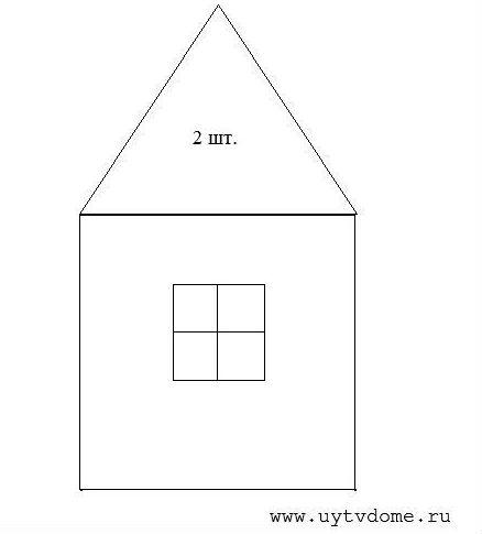 Шаблон лицевой и задней части домика
