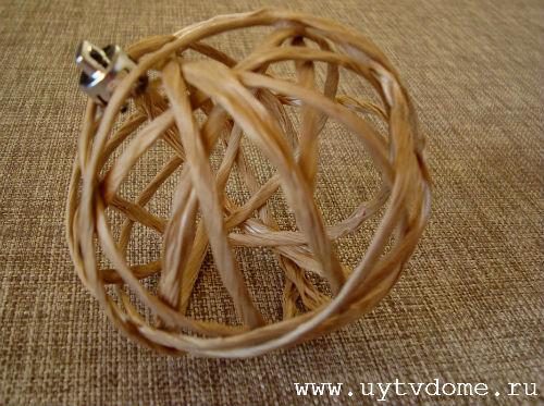 Как сделать шар из веревки или красивые шары из шпагата.