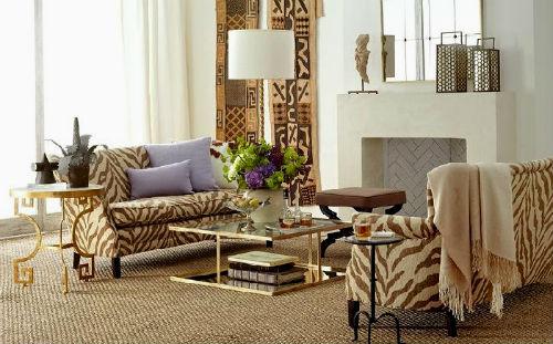 Гостиная в Африканском стиле или Африканский стиль в интерьере гостиной