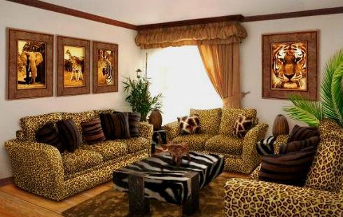 Гостиная в африканском стиле фото
