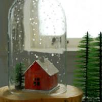 Домик под стеклянным куполом.