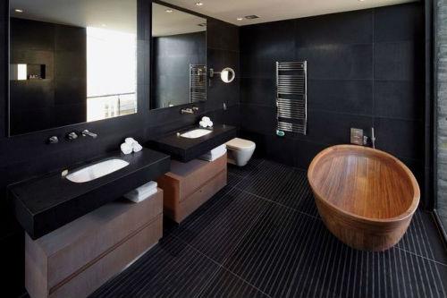 Ванна в черном цвете фото