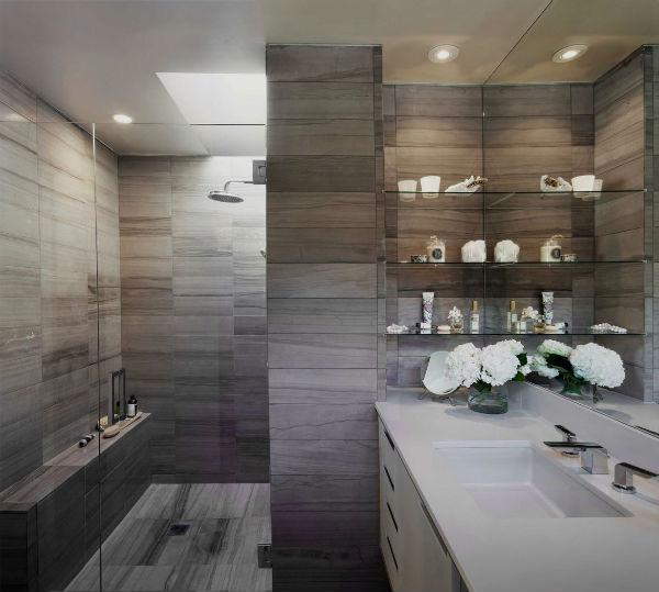 Дизайн ванной в сером цвете: особенности оформления, фото 21