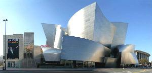Стильный концертный зал имени Уолта Диснея. Лос-Анджелес