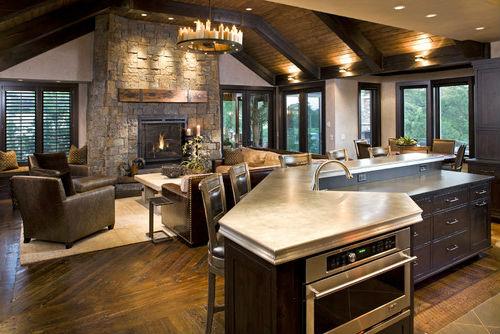 Примеры дизайна кухни совмещенной с гостиной