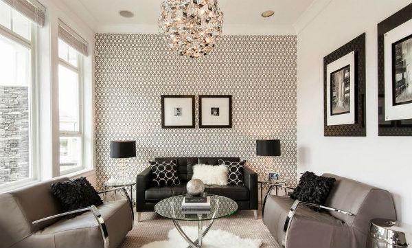 Обои в гостиной: самые актуальные примеры оформления стен