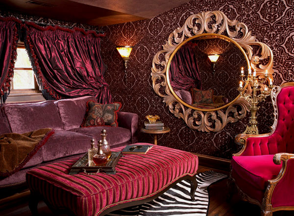 Красные обои в интерьере гостиной: стильно, роскошно и изысканно