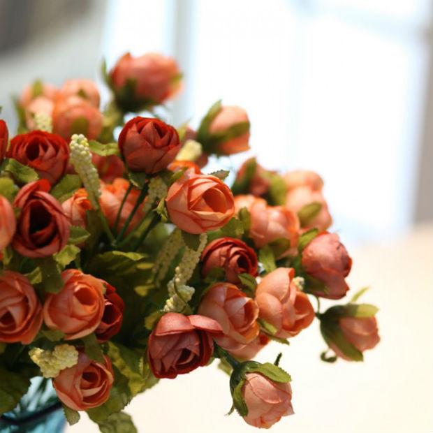 Искусственные цветы для домашнего интерьера - более 40 фото композиций