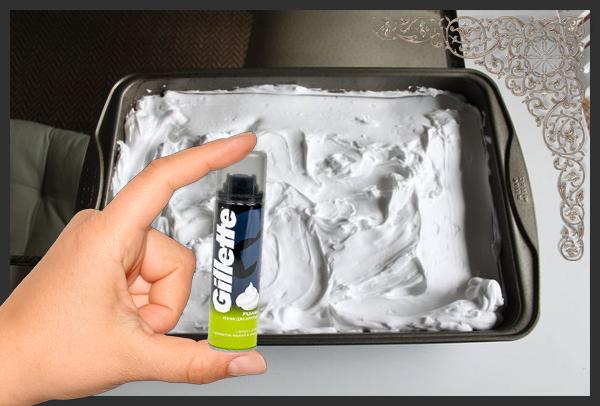 Создаем эффектную абстрактную картину пеной для бритья