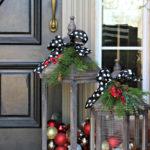 Уличные новогодние украшения для дома