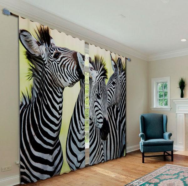 Unique custom zebra wall murals