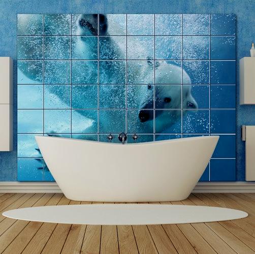 реалистичная фотоплитка для ванной или модное панно из плитки в ванную