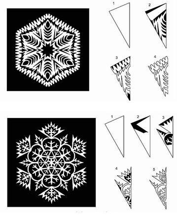 Как вырезать снежинку из бумаги своими руками (более 60 пошаговых схем вырезания)