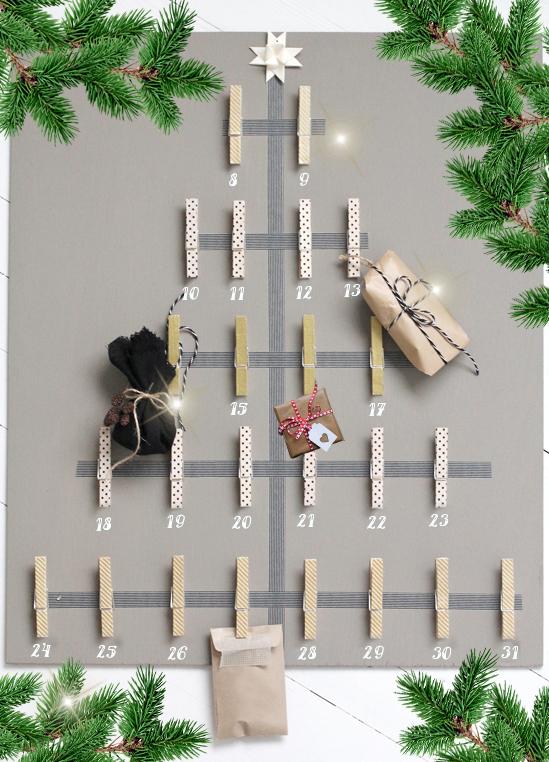 Адвент-календарь своими руками (9 мастер-классов с шаблонами и заданиями)