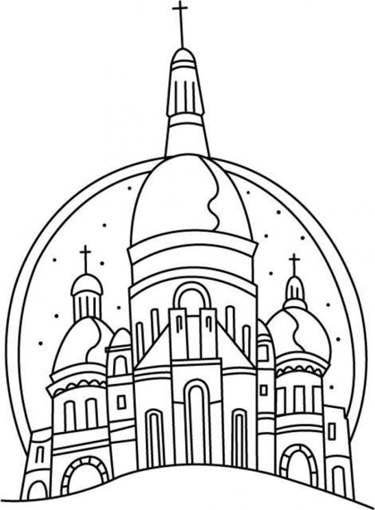 Картинка церкви из раскраски
