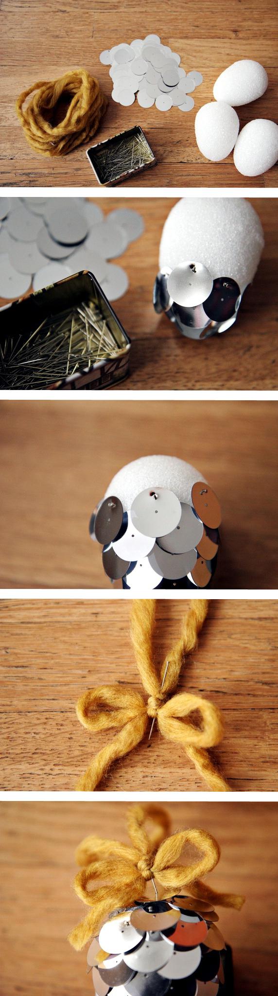 Как сделать Новогодние декоративные шишки из пайеток своими руками (мастер-класс)