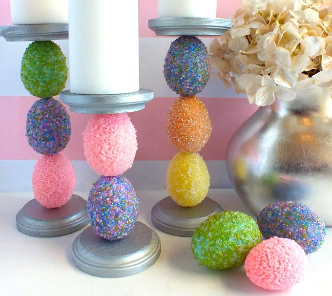 Декоративные подсвечники на Пасху с яйцами (мастер-класс)