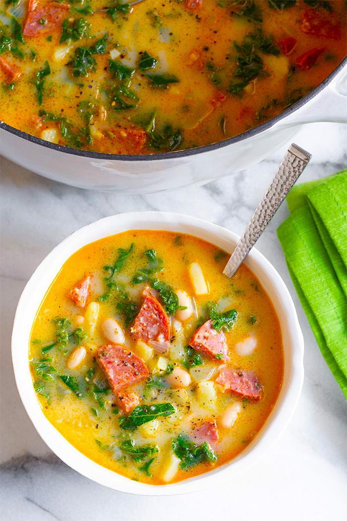 Вкусный Португальский суп с колбасой (делимся рецептом)